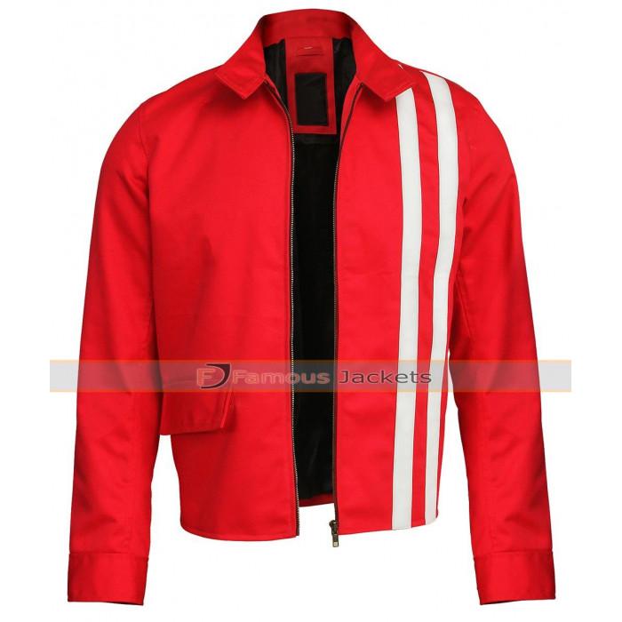 4d3564e7c Speedway Elvis Presley Biker Red with White Stripes Cotton Jacket