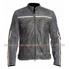 Moon Black Rider Moto Leather Jacket