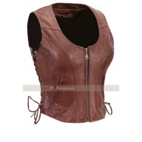 Walking Dead S4 Michonne (Danai Gurira) Leather Vest
