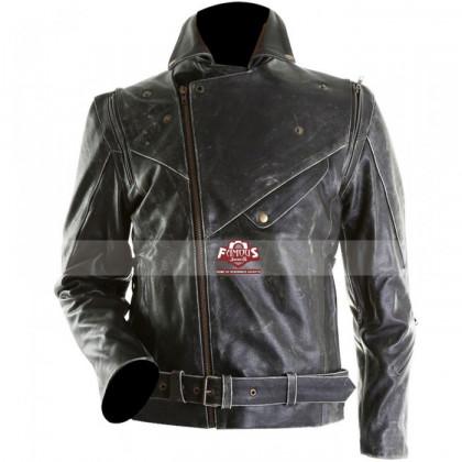 Brando Motorcycle Black Distressed Leather Jacket