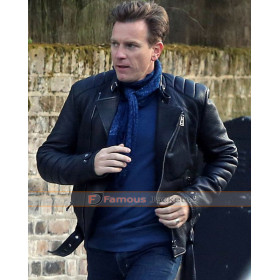 Mark Renton Trainspotting Biker Leather Jacket