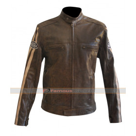 Richa Retro Racing Brown Leather Motorcycle Jacket