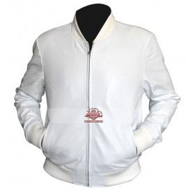 Crazy Stupid Love Ryan Gosling (Jacob Palmer) White Leather Jacket