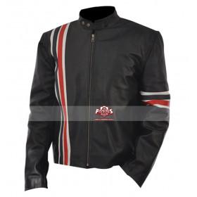 Peter Fonda Easy Rider Black Biker Leather Jacket