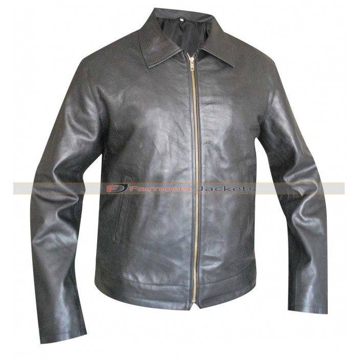 04dc35fd3 Faster Dwayne Johnson (Driver) Black Leather Jacket