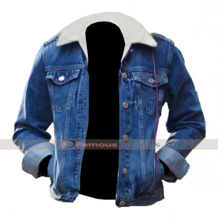Baby Driver Deborah Denim Fur Jacket