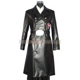 Katekyo Hitman Reborn Xanxus Cosplay Leather Costume