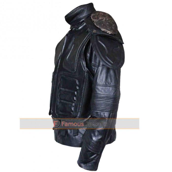 Dredd 3D Karl Urban Armor Motorcycle Leather Jacket For Sale