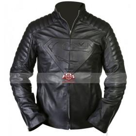 Smallville Superman Clark Kent Black Leather Jacket