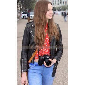Snowden Shailene Woodley (Lindsay Mills) Black Biker Jacket