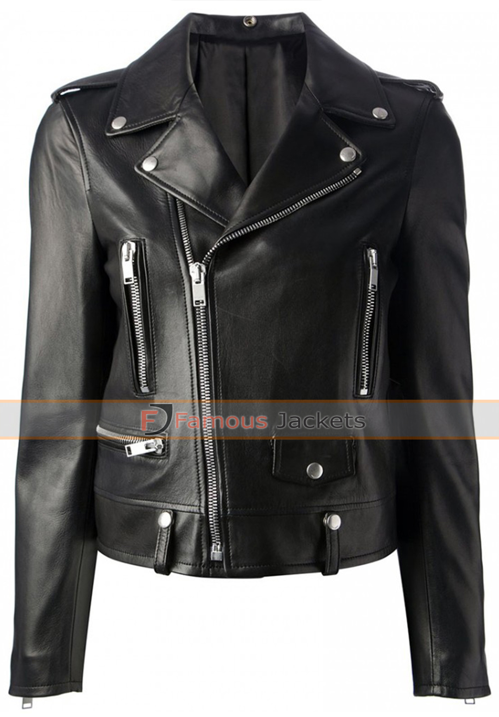mariah carey black motorcycle style leather jacket £ 127 ...