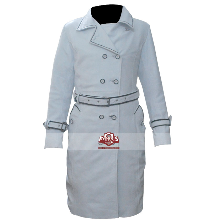 Kill Bill Daryl Hannah Elle Driver Leather White Jacket £