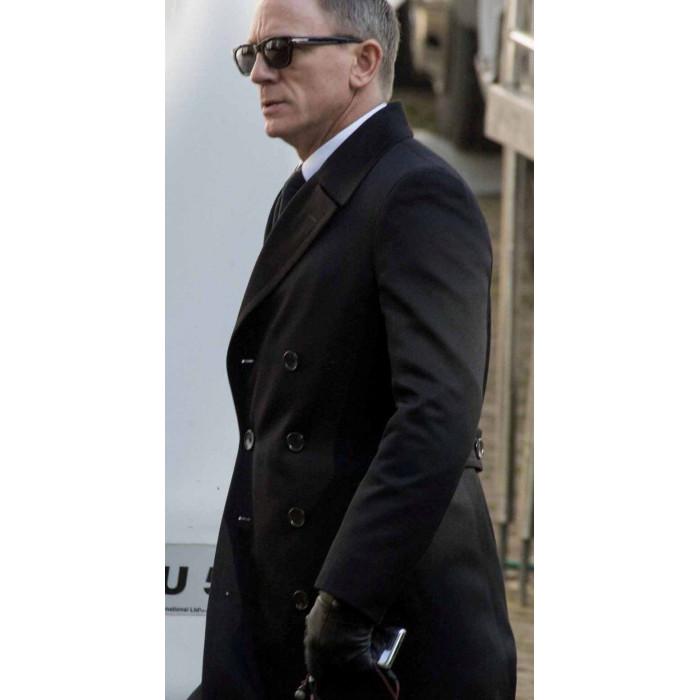 Spectre james bond 007 black long jacket coat - James bond costume ...