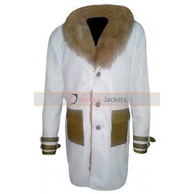 Vin Diesel XXX Xander Cage White Leather Brown Fur Coat