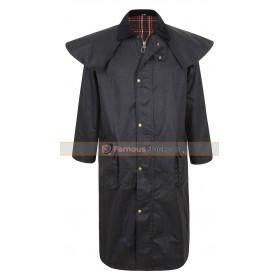 Portmann Mens Deluxe Long Cape Stockman Hood Wax Coat