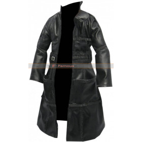 Rutger Hauer Blade Runner 1982 Roy Batty Black Leather Coat