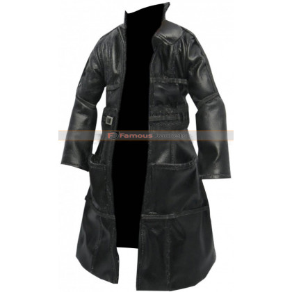 Rutger Hauer Blade Runner 1982 Roy Batty Black Leather Coat