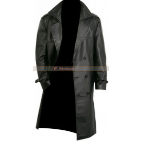 Frank Castle The Punisher Black Trench Leather Coat