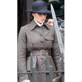 Gal Gadot Wonder Woman Grey Trench Coat