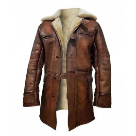 Batman The Dark Knight Rises Bane Fur Trench Coat