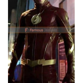 The Flash Grant Gustin Season 4 Leather Jacket