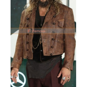 Arthur Curry Justice League Jason Momoa Distressed Fur Jacket