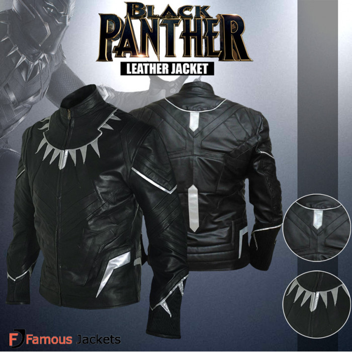 release date various styles quality first Captain America Civil War Black Panther Leather Jacket