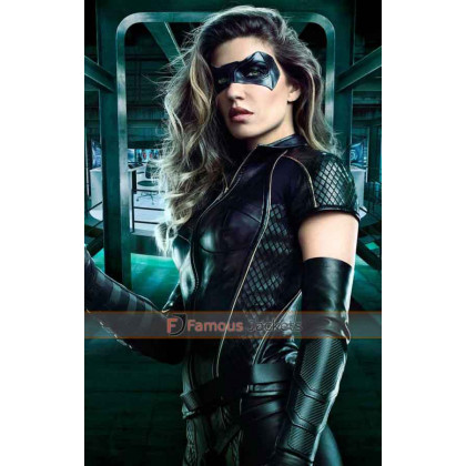Season 6 Arrow Dinah Drake Leather Jacket