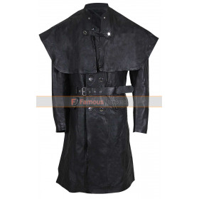 Yharnam Ite Bloodborne Joe Sims Black Leather Trench Coat