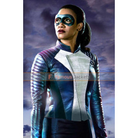 Candice Patton The Flash Iris West Allen Speedster Leather Jacket