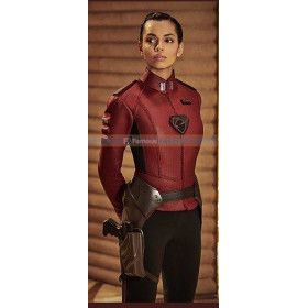 Lyta Zod Krypton Georgina Campbell Red Leather Jacket