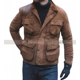 Craig Mcginlay Brown Suede Leather Jacket