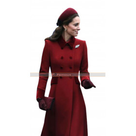 Royal Princess Kate Middleton Red Trench Coat