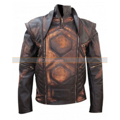 Aniline Distressed Brown Copper Vintage Classic Jacket
