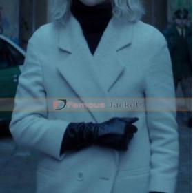 Atomic Blonde Charlize Theron (Lorraine Broughton) White Coat