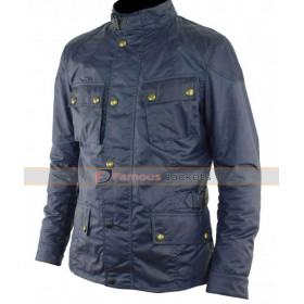 Common John Wick Chapter 2 Cassian Blue Cotton Jacket