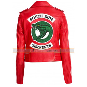 Cheryl Blossom Toni Topaz Serpents Red Leather Jacket Riverdale