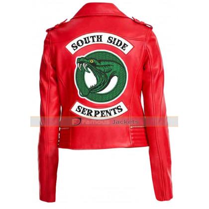 Cheryl Blossom Toni Topaz Serpents Red Leather Jacket Riverdale