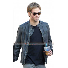 Chris Pine Horrible Bosses 2 Rex Hanson Black Leather Jacket