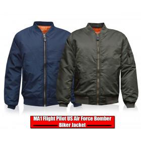 Flight Pilot MA1 Bomber Biker Military Jacket