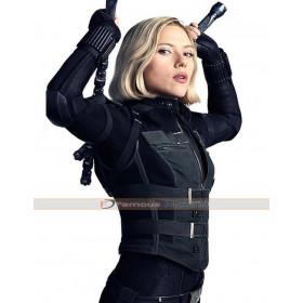 Avengers Infinity War Scarlett Johansson Black Costume Vest