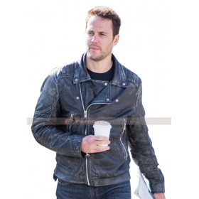 Taylor Kitsch American Assassin Distressed Black Leather Jacket