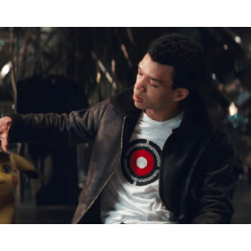Detective Pikachu Justice Smith (Tim Goodman) Leather Jacket