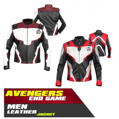 Avengers Endgame Quantum Realm Biker Leather Jacket