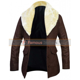 Kelly Reilly Yellowstone Shearling Wool Coat