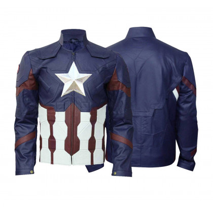 Captain America ( Chris Evans ) Avengers Endgame Leather Jacket