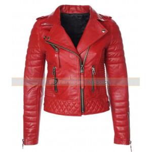 Cheryl Cole Red Biker Jacket
