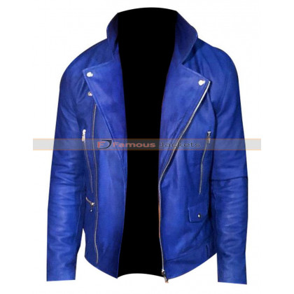Finn Balor Blue Leather Jacket