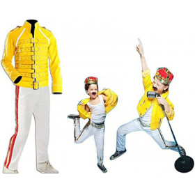 Freddie Mercury Yellow Kids Leather Jacket