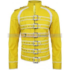 Freddie Mercury Wembley Concert Yellow Cotton Costume Jacket